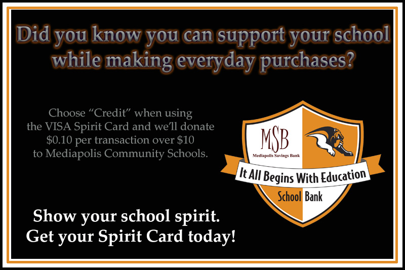 Slide for the School Spirit Debit Card